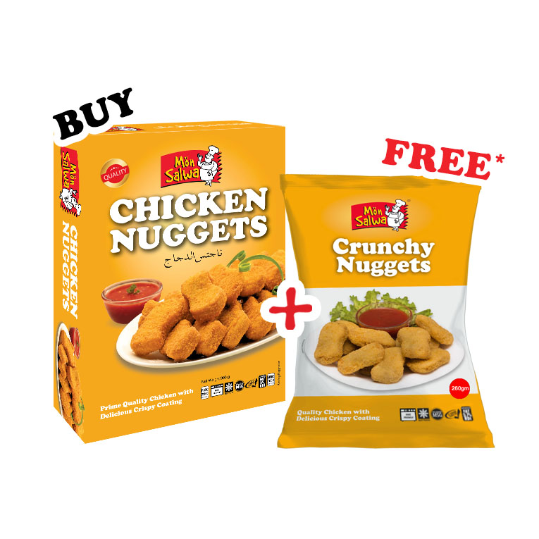 Chicken Nuggets with Crunchy Nuggets